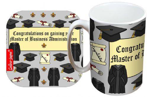 Selina-Jayne Graduation MBA Limited Edition Designer Mug and Coaster Gift Set